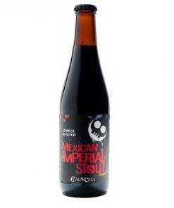 Cerveza Calavera Mexican Imperial Stout botella 355 ml